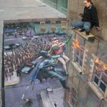 Julian Beever, jugando en la calle con la perspectiva