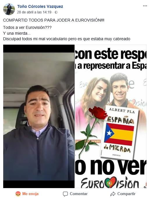 Toño Córcoles Vazquez en pleno rebuzno