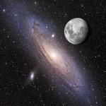 La luna sobre Andrómeda