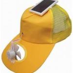 Para esos días de calor: gorra solar con ventilador