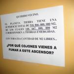 Cultura, tabaco y ascensores… mala combinación