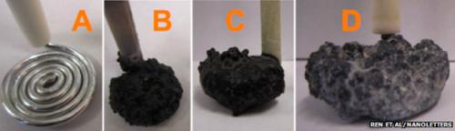 nanofibras-de-carbono-formandose-gradualmente-sobre-uno-de-los-electrodos-del-dispositivo