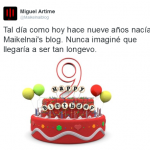 Noveno aniversario de Maikelnai's blog