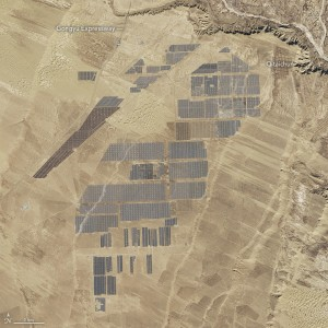 Así se ven 4 millones de paneles solares desde el espacio