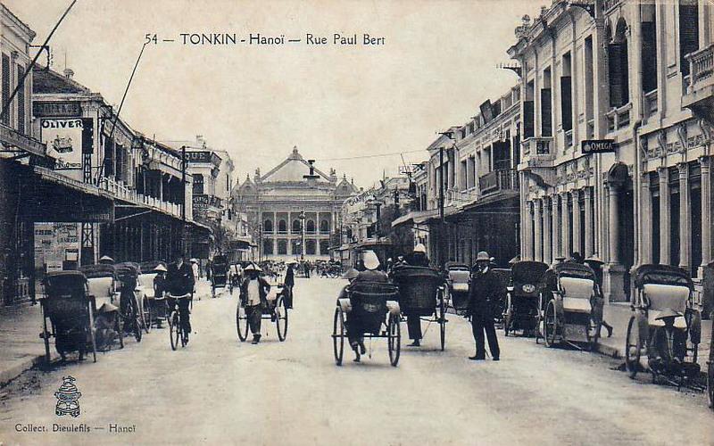 Imagen de 1902  del barrio europeo de Hanoi