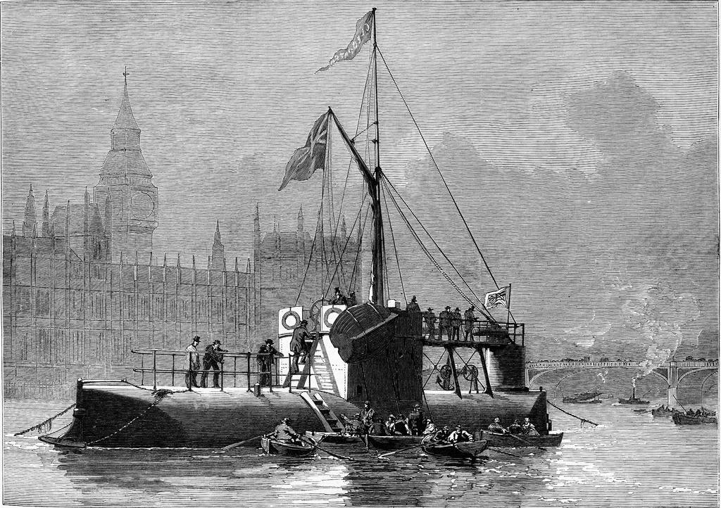 Aguja de Cleopatra llegando a Londres en enero de 1878