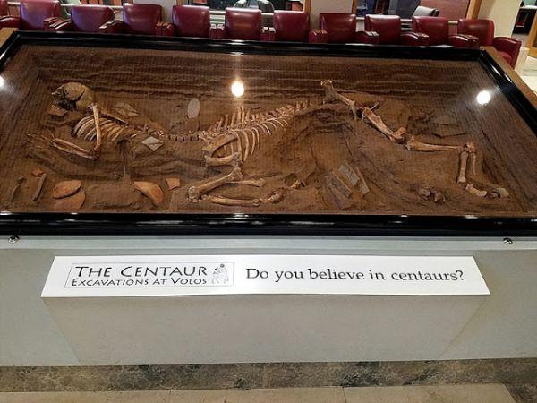 El centauro de la excavación de Volos
