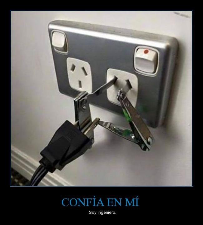 A falta de adaptador confía en mi soy ingeniero